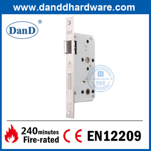 SS304 CE Best Mortise Fire Rated Deadbolt Lock for Wooden Door-DDML013