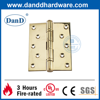 Stainless Steel 304 Polished Brass Fireproof Composite Door Hinge-DDSS011B-5X4X3