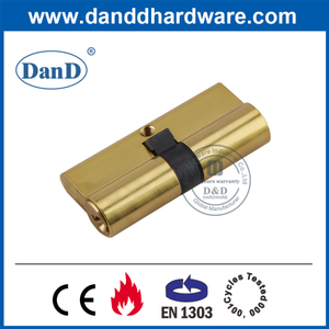 Best EN1303 Polished Brass Profile Double Lock Cylinder-DDLC003