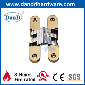 Zinc Alloy Polished Brass Hidden Hinge for Internal Door-DDCH007