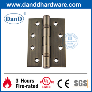 SS304 Antique Brass Fire Resistant Door Hinge for Residential Buildings-DDSS001-4X3X3