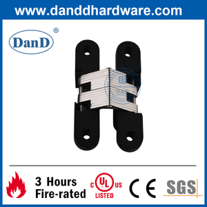 180 Degree Matte Black Zinc Alloy Invisible Door Hinge-DDCH007