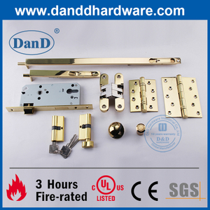 UL CE Stainless Steel Polished Brass Architectural Hardware for Fire Rated Door-DDDH004
