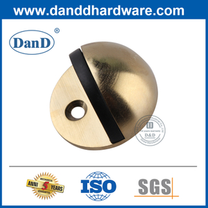 Security Stainless Steel Half Moon Satin Brass Door Stop-DDSS001