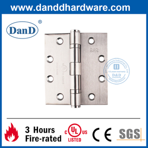 UL Certification SS304 Ball Bearing Mortise Fire Door Hinge-DDSS002-FR-4.5X4X3.4