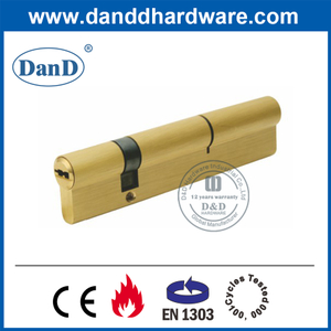 High Security Euro Brass Offset Double Open Key Cylinder-DDLC012